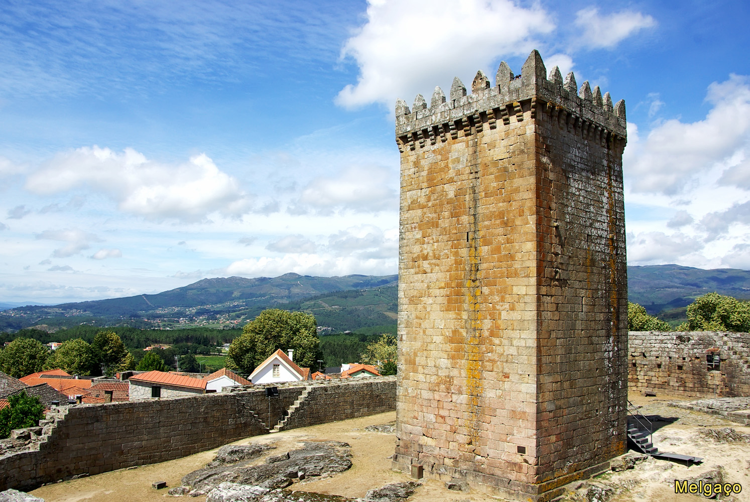 Castle of Melgaco  in the north of Portugal.